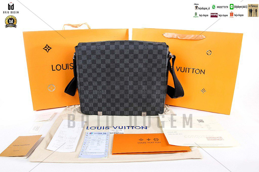 MESSENGER BAG LV DAMIERE AUTHENTIC GRADE MIRROR 1:1 IMPORT - MB LVM 2